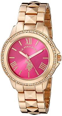 U.S. Polo Assn. Women's USC40080 Analog Display Analog Quartz Rose Gold Watch