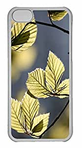 iPhone 5C Case, Personalized Custom Tree Leaves In Sunlight for iPhone 5C PC Clear Case