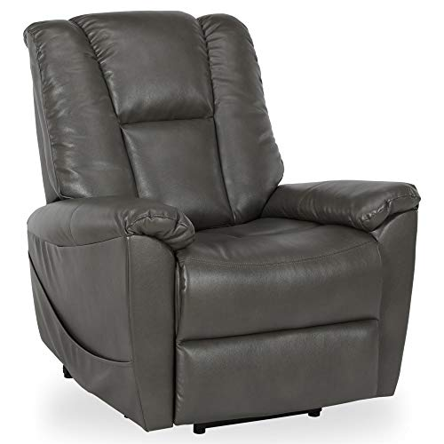 - Dorel Living DL8600 Ernie Power Chair with Lift Assist and Massage Function with Quiet Engine, Gray Recliners,