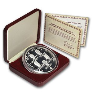 1980 Jm Jamaica Silver  25 Olympic Gold Medals Proof Silver Brilliant Uncirculated