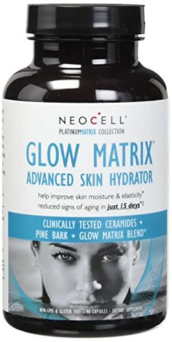 NeoCell Laboratories Advanced Skin Hydrator Glow Platinum Matrix, 90 Count