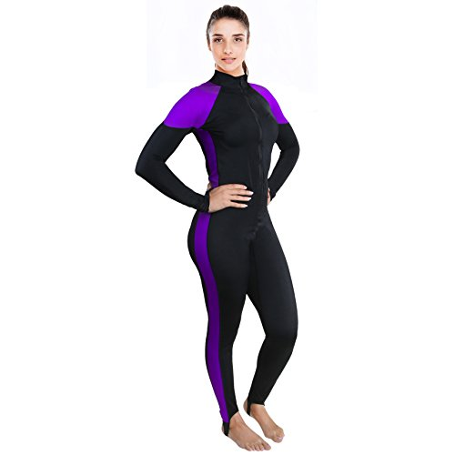 Womens Wetsuit - Lycra Full Body Diving Suit & Sports Skins for Running, Exercising, Snorkeling, Swimming, Spearfishing & Water Sports - - Women's Suit Wet