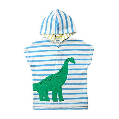 Toddler Dinosaur Hooded Beach Bath Towel, Kids Cover-up Poncho Cape for Bath Beach Swimming Soft Cartoon Bathrobe 1-6T (Dinosaur, 2-3T)]()