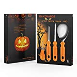 Maxchange Pumpkin Carving Tool Kit | Heavy Duty Sturdy Stainless Steel Set | 22 Pattern and Stencil in PDF Included | Make a Jack-o'-Lantern Fun and Safely