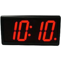 DuraTime HP 4.0 Red 4 Digit LED Digital Wall Clock