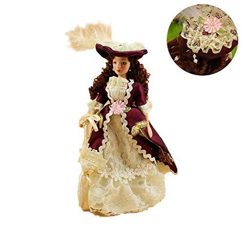Runfon Moveable Mini Doll Ceramic Decorations Victorian Women Model Homemade Dolls (Ratio: - Dolls Mini Victorian