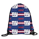 Jerrymoaus Custom Colourful New York Giants Travel Canvas Drawstring Backpack Shoulder Bag