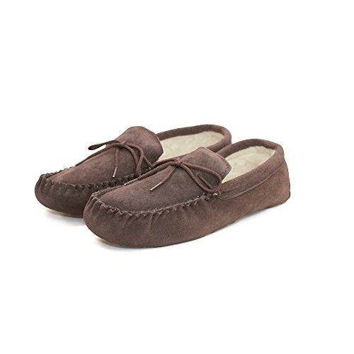 Marrón suela Mocasines con unisex forro Leather Chocolate mezcla suave Eastern lanas de y Counties de OqnEBRnwUA