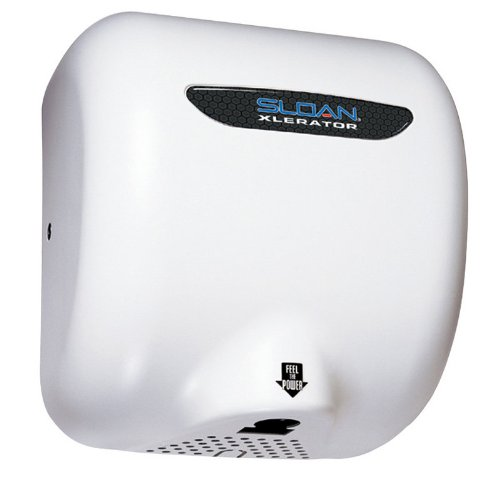Sloan EHD-504 Xlerator Model Ultra-fast, Sensor Activated Hand Dryer for surface, White