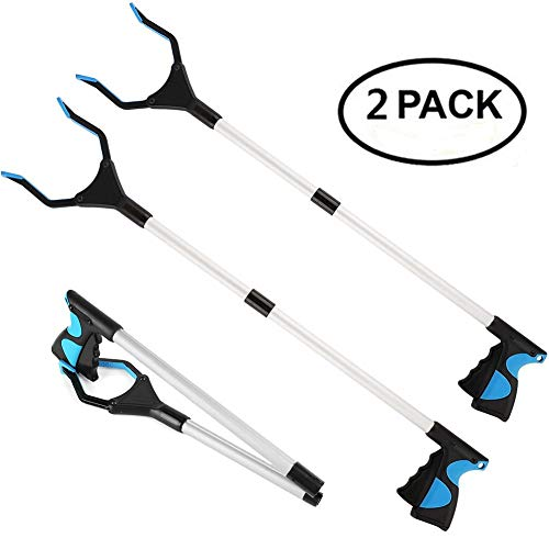 Procellatech 2 Pack - Reacher Grabber Pick up Tool, 32