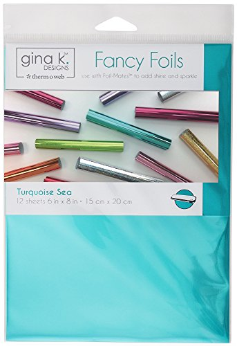 Gina K. Designs for Therm O Web 18033 Fancy Foils, 6' x 8' Sheets, Turquoise Sea