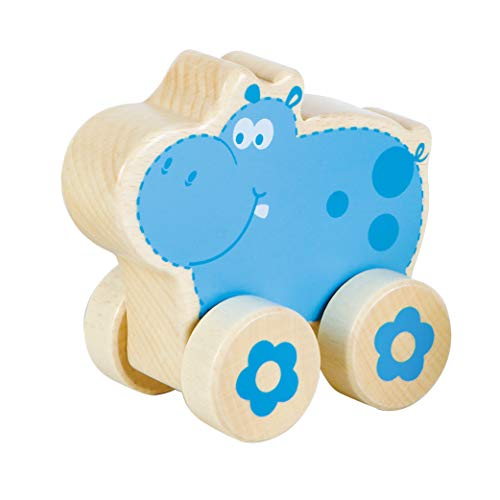 Fat Brain Toys Nature Buddies Wooden Rollers - Hippo