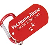 Pet Dog ID Tag and Emergency Wallet Card with Laminating Pouch