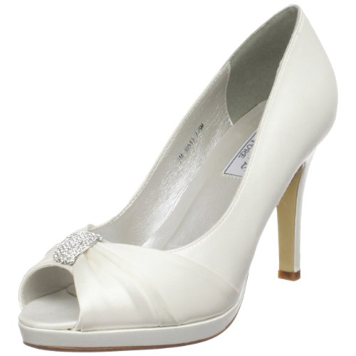 Liz Rene Couture Women's Jacqueline, White Silk Satin 7 M ()