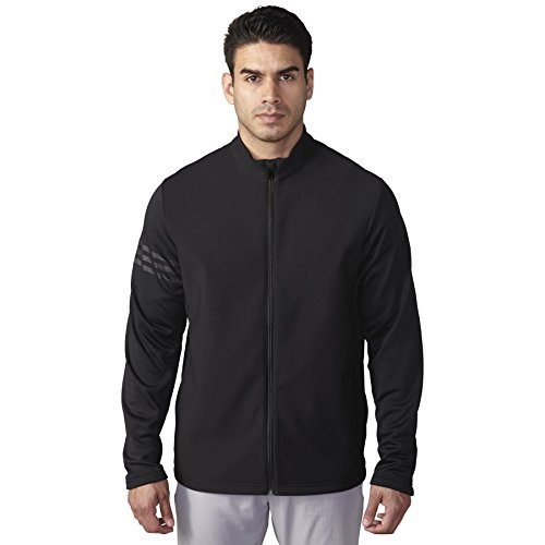 adidas Golf Men's Climastorm Hybrid Heathered Jacket, Black, X-Large