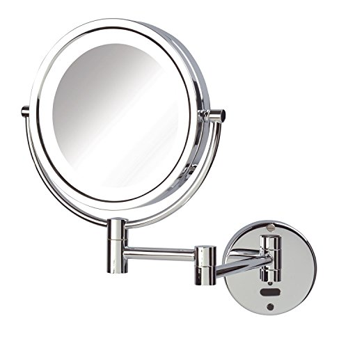 Jerdon Sharper Image LED Lighted Wall Mount Sensor Mirror, Chrome, 4 Pound