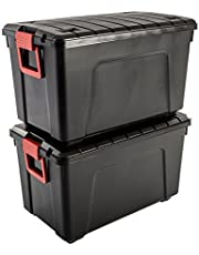 Iris Ohyama zestaw 3 pojemników do przechowywania DIY do układania w stos - Store It All SIA-60-Plastic