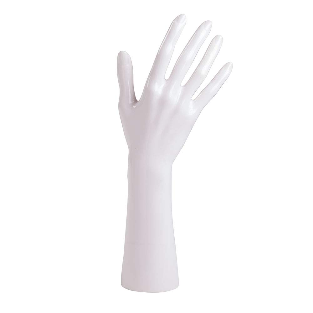 White Female Right Hand Form - 12'' - Great for Displaying Rings or Bracelets