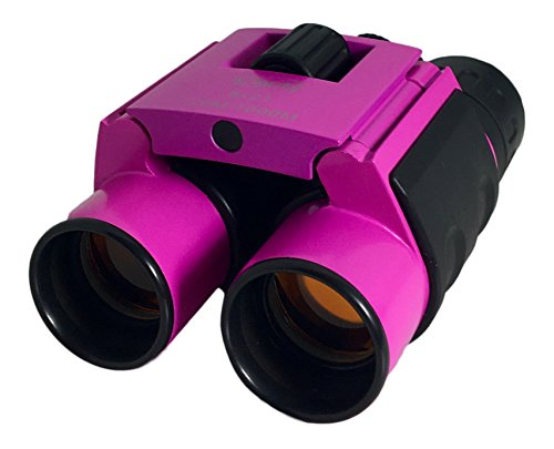 Pink Small Binoculars Compact Mini Folding: Perfect for Kids and Adults, Fits in Pocket, Bird Watching, Hiking, Travel, Theater, Concerts, Premium Glass lens, Shockproof