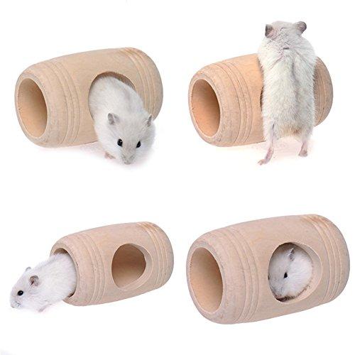 Kiao Maison de lit en bois en forme de cage Mola Pet Rat Hamster Petit Animal Jouet