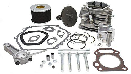 Everest Cylinder Head Rebuild Kit Rockers Valves Camshaft Piston Compatible with Honda GX240
