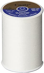 Coats & Clark All Purpose Thread 400 Yards White (ONE spool of y