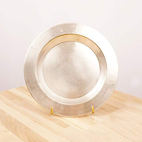 - Restored by UKARETRO 24 cm Plate/Dish / Bowl || Vintage Silver Plated on Brass || Simple Design