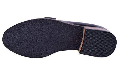 Maat 9-13 Dames Leren Instappers Loafers Elegante Comfortabele Jurk Platte Schoenen Breed Zwart / Brons
