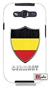 Cool Painting Premium Germany National Flag Badge Direct UV Printed Unique Quality Soft Rubber Case for Samsung Galaxy S4 I9500 - White Case