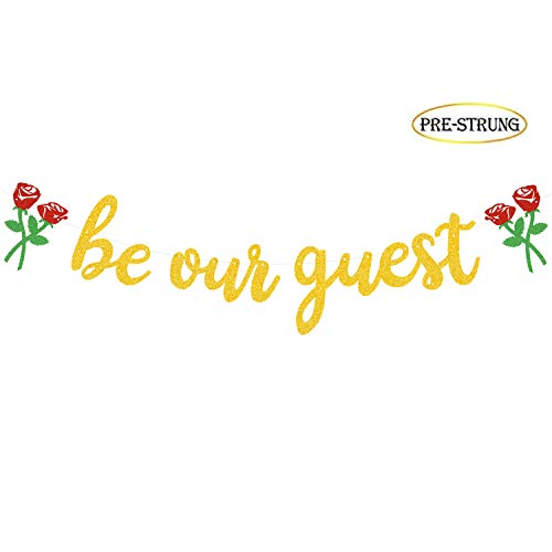 Be Our Guest Banner, Reception Banner Bachelorete Party Engagement Party -