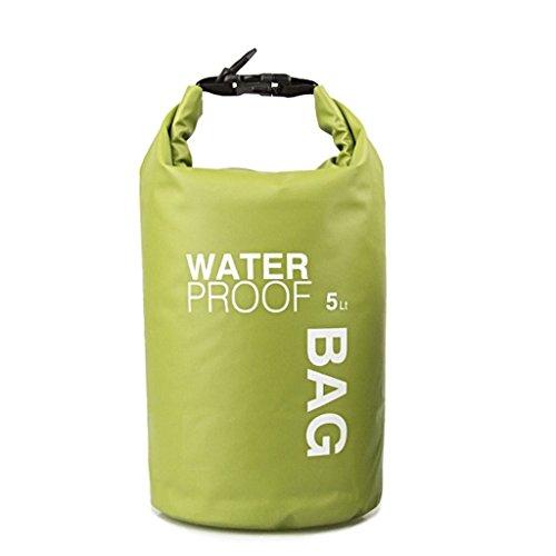 tfxwerws 5L grün Big Wasserdicht Dry Wandern Rafting Tasche Camping Outdoor Geschenk