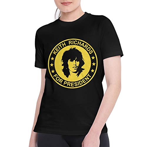 CAMERON MORLEY T Shirts for Women Classic Keith Richards for President The Rolling Stones T Shirt S Black]()