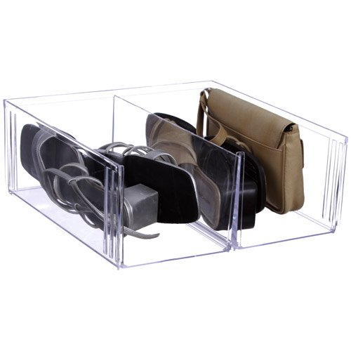 Crystal Clear Stacking Shoe Storage Bin