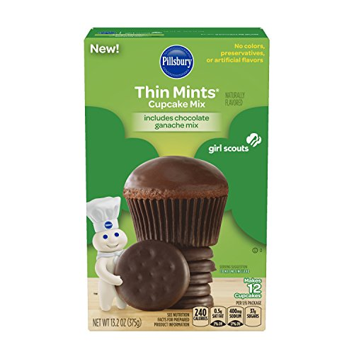 Pillsbury Girl Scouts Thin Mints Cupcake Mix, 13.2 oz