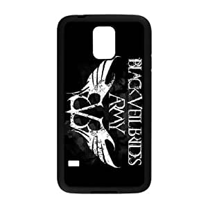 FEEL.Q- Custom Rubber Back Fits Cover Case for Samsung Galaxy S5 S V I9600 - Black Veil Brides