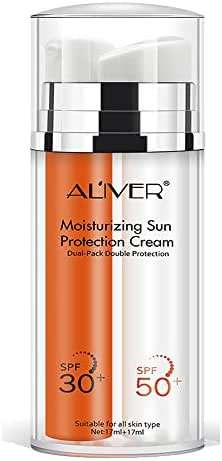Sunscreen - Moisturing Sun Projection Cream for Face and Body - Sunblock SPF 30 - Sunblock SPF 50 - UVA, UVB, Water Resistant, Eco-Friendly, Non Toxic, 2.4 Oz