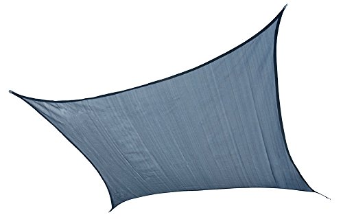 ShelterLogic 25767 Heavyweight 16 x 16 ft. Square Sea Blue Sun Shade Sail, 16 x 16 ,