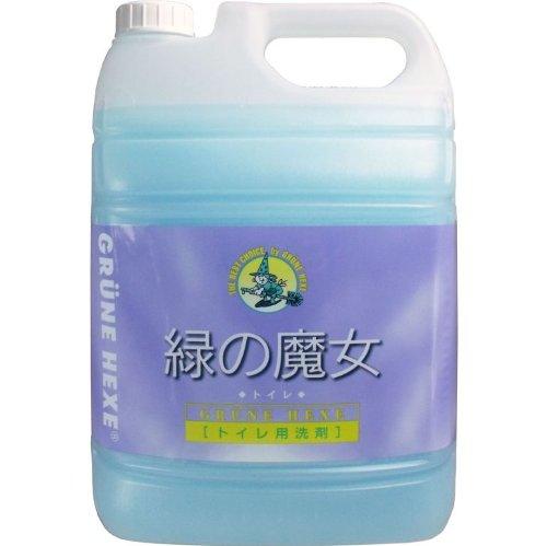 トイレ用洗剤 トイレ掃除 ドイツ生まれ!汚れに強く、地球に優しい洗剤!5L【4個セット】 B00W2UZKDI