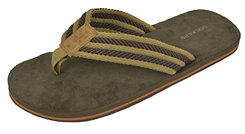 Dockers Men's Flip Flop Sandal ; Classic Comfort Arch Support Footbed with Two-Tone Upper, Size 8 to 14 by Dockers