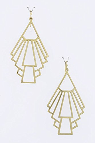 THE JEWEL RACK SYMBOLIC SHAPE EARRINGS (Gold) (Avon Freshwater Earrings)