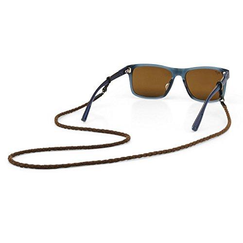 Croakies (CROCY Ultrasuede Cord Fashion Eyewear Retainer Spec Ends, Brownstone, 30