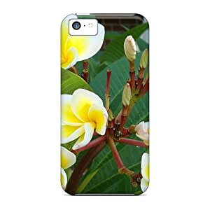 Awesome Design Beautiful Yellow White Tropical Flowers Hard Case Cover For Iphone 5c