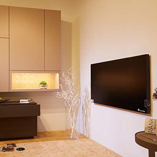 TecTake 800672 1400W   Nr. 403132 /Überhitzungs- und /Überspannungsschutz Wandhalterung inkl Infrarotheizung mit Thermostat in Schwarz diverse Modelle