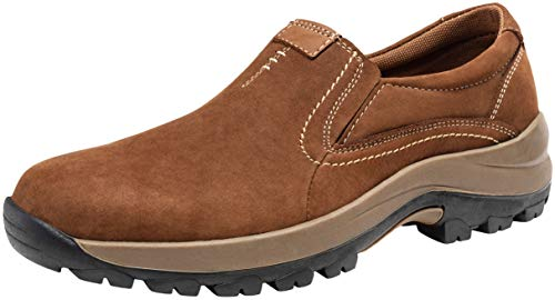 JOUSEN Men's Slip On Loafers Jungle Moc Casual Shoes for Men (12,Brown)