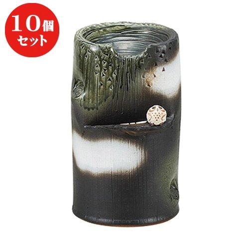 10個セットふくろう流水つくばい [ 22.5 x 23 x 36cm ] 【 つくばい 】【 日本庭園 ガーデニング 和風 】 B07BFML7HQ