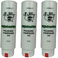 3 Pack Original JFJ Polish Compound #2 12oz (White)