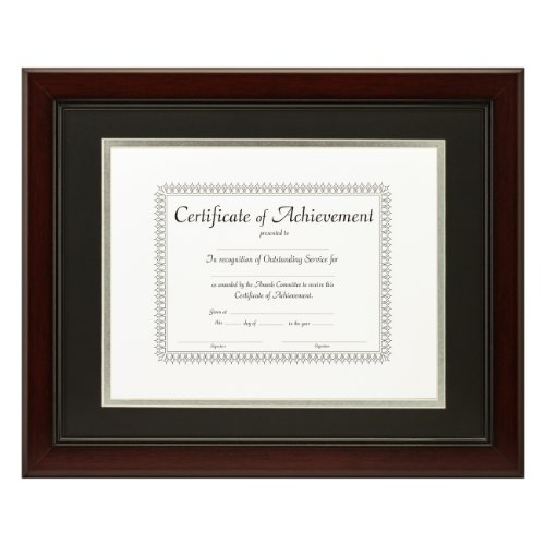 Craig Frames 11x14 Inch Mahogany Document Frame Double