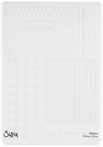 Sizzix Textured Impressions Embossing Folder Postage/Telegram by Jillibean Soup for Hampton Art (Embossed Soup)