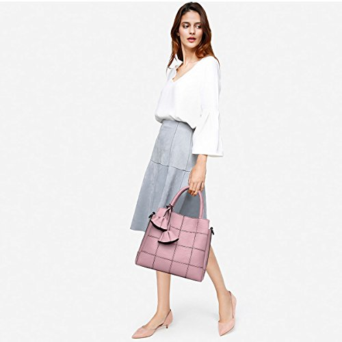 amp;DORIS Handbags Shoulder Simple Light Fashion Handbags for Atmosphere Blue Female Woman Handbag a Bag New Female Trendy Bag Pink Leather NICOLE pdwP8xq8