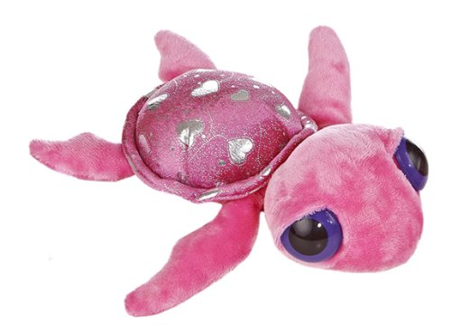 "Aurora Tech World 12"" Dreamy Eyes Hearts Turtle Plush"